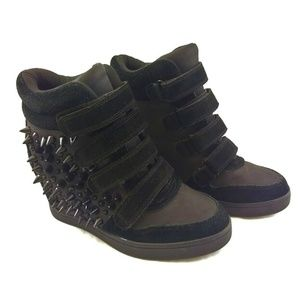 Aldo 7M Hidden Wedge Ankle Boots Spiked Sneakers